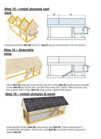 Construction de poulailler
