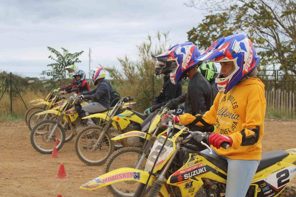 colonie de vacances moto-cross